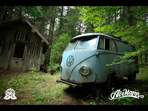 RESURRECTION - Rescue of a VW 1955 panelvan - Forest find !