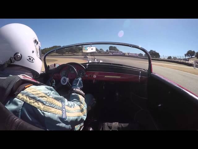 Rennsport Reunion – Onboard with the Porsche Speedster 356 A