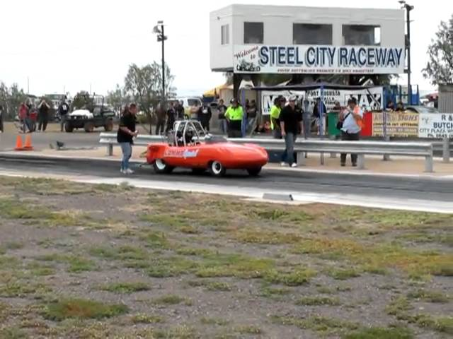 Goggo Dart drag car wheelstand