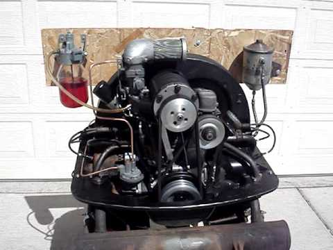 VW 36hp engine with Judson supercharger and Marvel Mystery Oiler running on test stand